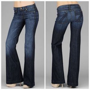 7 For All Mankind Sz 29 x 34 Dojo Wide Leg Flare